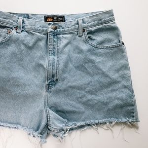 Plus Size Light Wash Denim Cut Off Shorts